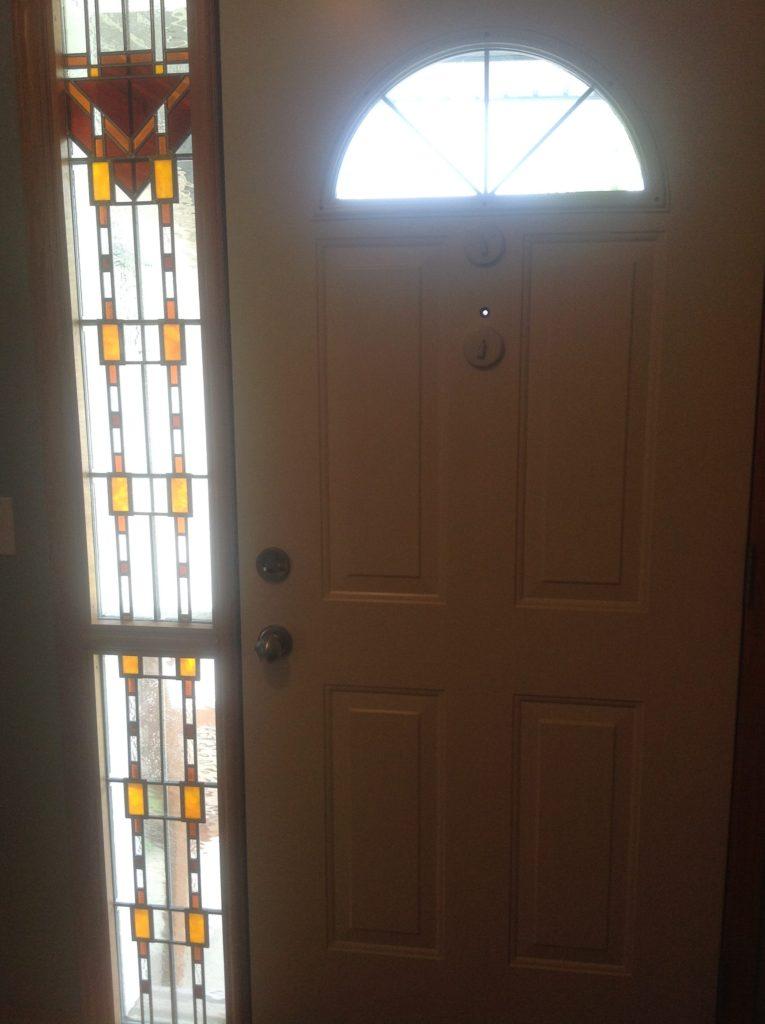 window privacy, front door